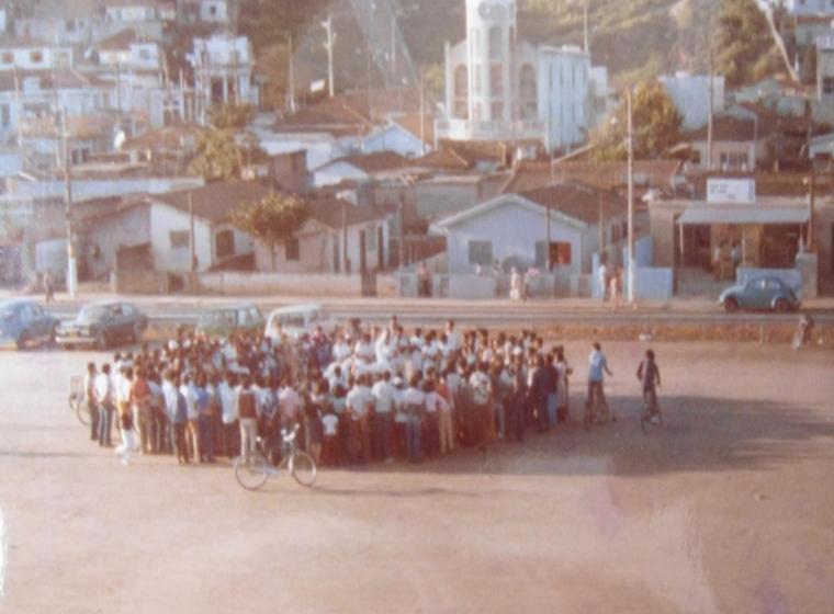 Terreno Mercado Municipal Leonor Quadros (Mercadão de Guaianases)Grupo Guerreiros dos Palmares se Apresentavam