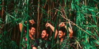 Artistas em meio a Bambus